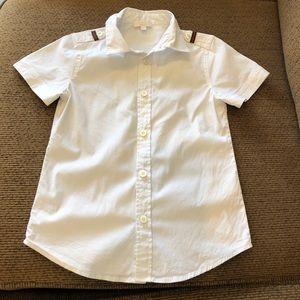 ⭐️Boys Gucci White Button Down Short Sleeve Shirt